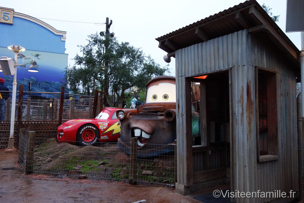 Les voitures de Cars à Walt Disney Studios Paris