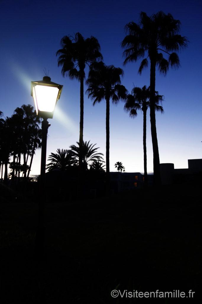 Jardin de nuit Hôtel Riu Paraiso