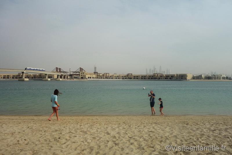 Plage de l'hotel Atlantis de Dubai