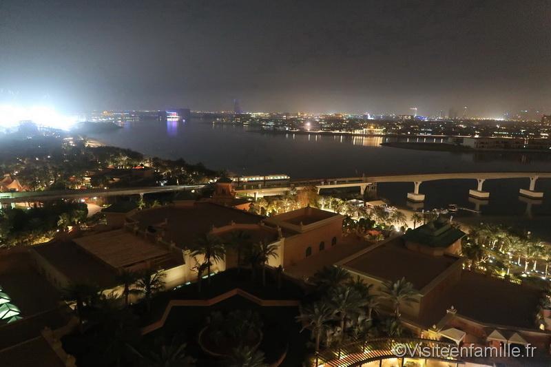 Vu depuis la chambre de l'hôtel Atlantis The Palm Dubai