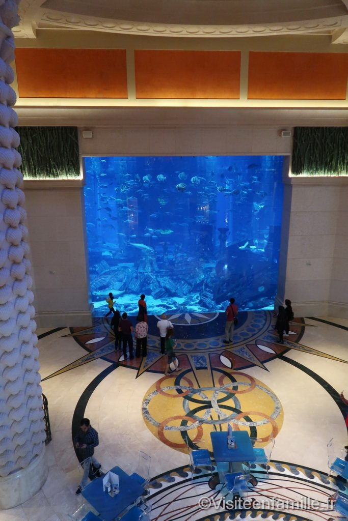 Aquarium géant dans l'hôtel Atlantis The Palm Dubai