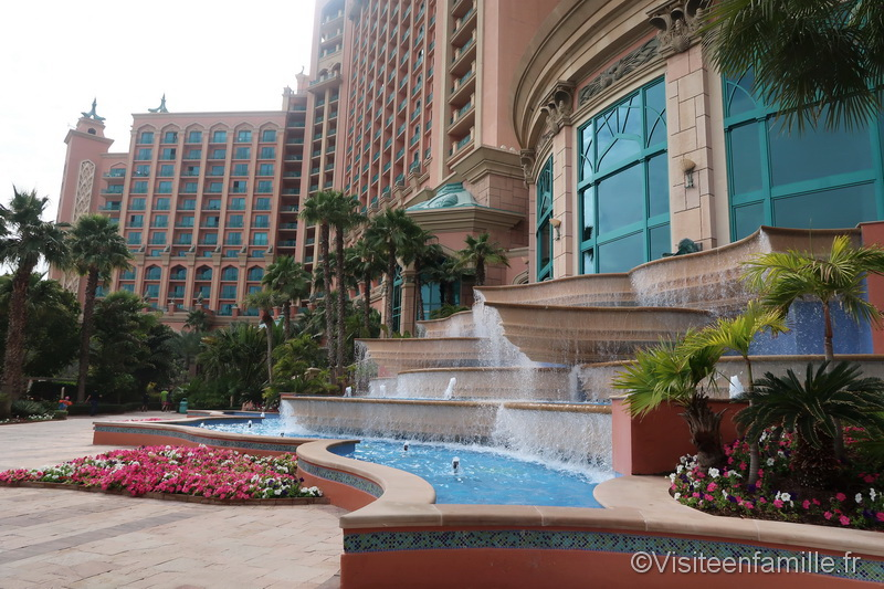 Fontaine de l'hôtel Atlantis The Palm Dubai