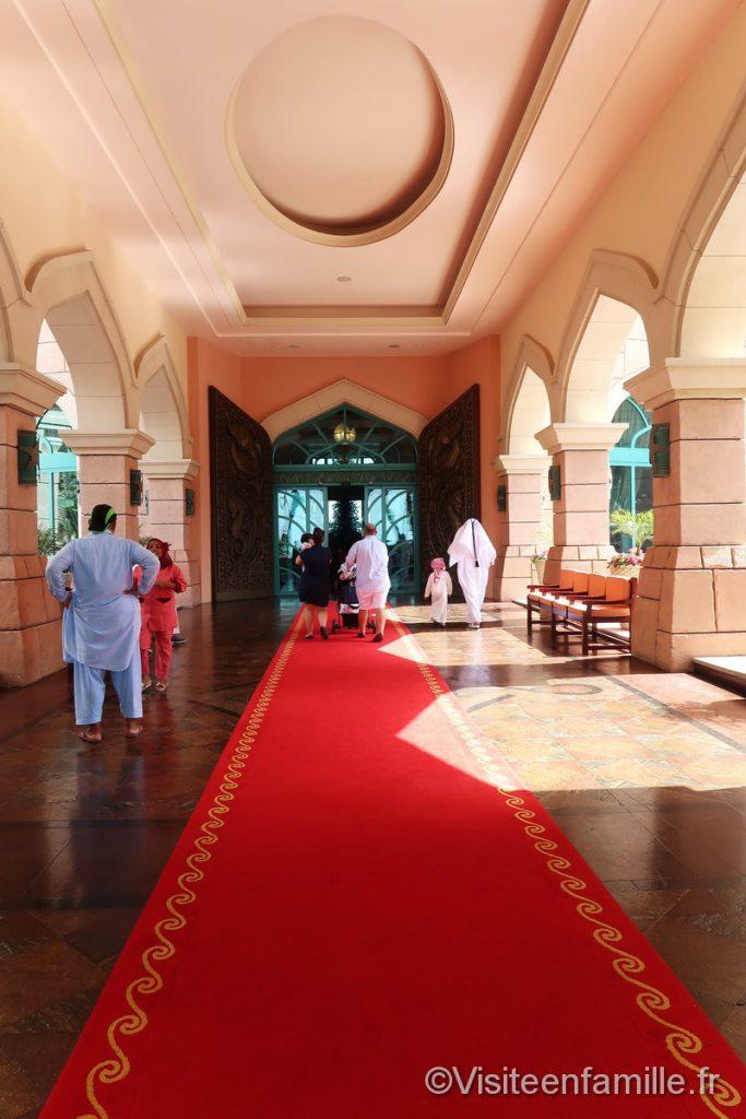 Entrée de l'hôtel Atlantis The Palm Dubai