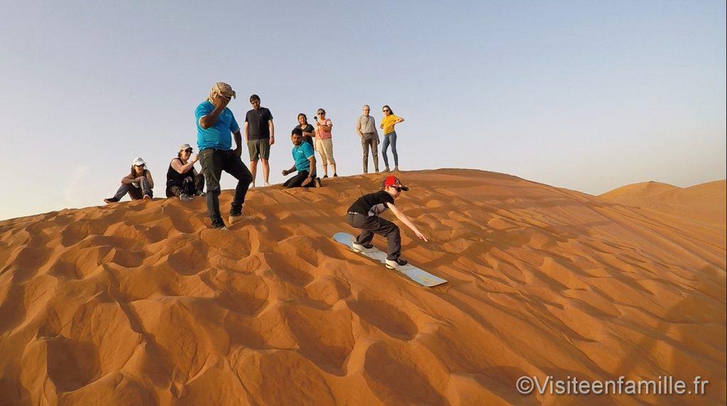 sandboard desert dubai