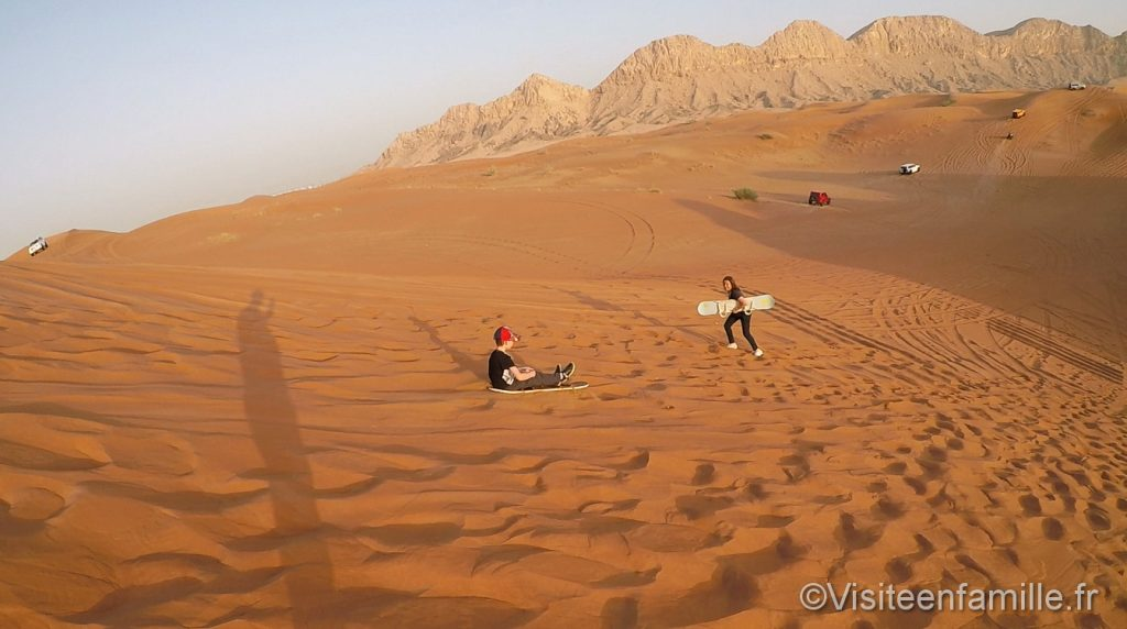sandboard dubai with children