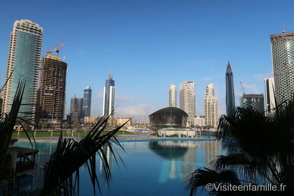 Opera de Dubai depuis la chambre du Palace Downtown Dubai
