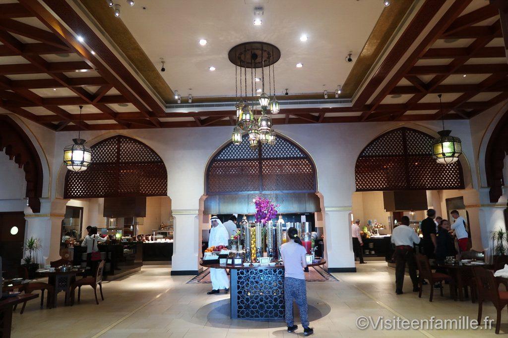 La salle du petit déjeuner du Palace Downtown Dubai