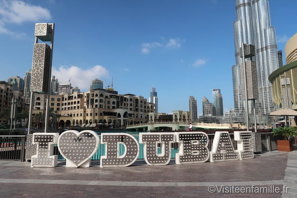 I love Dubai in Dubai Mall