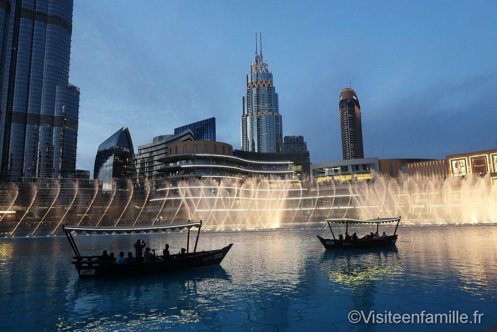 bateau fontaine de dubai