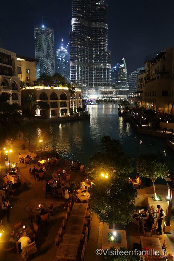 les restaurants depuis Palace Downtown Dubai