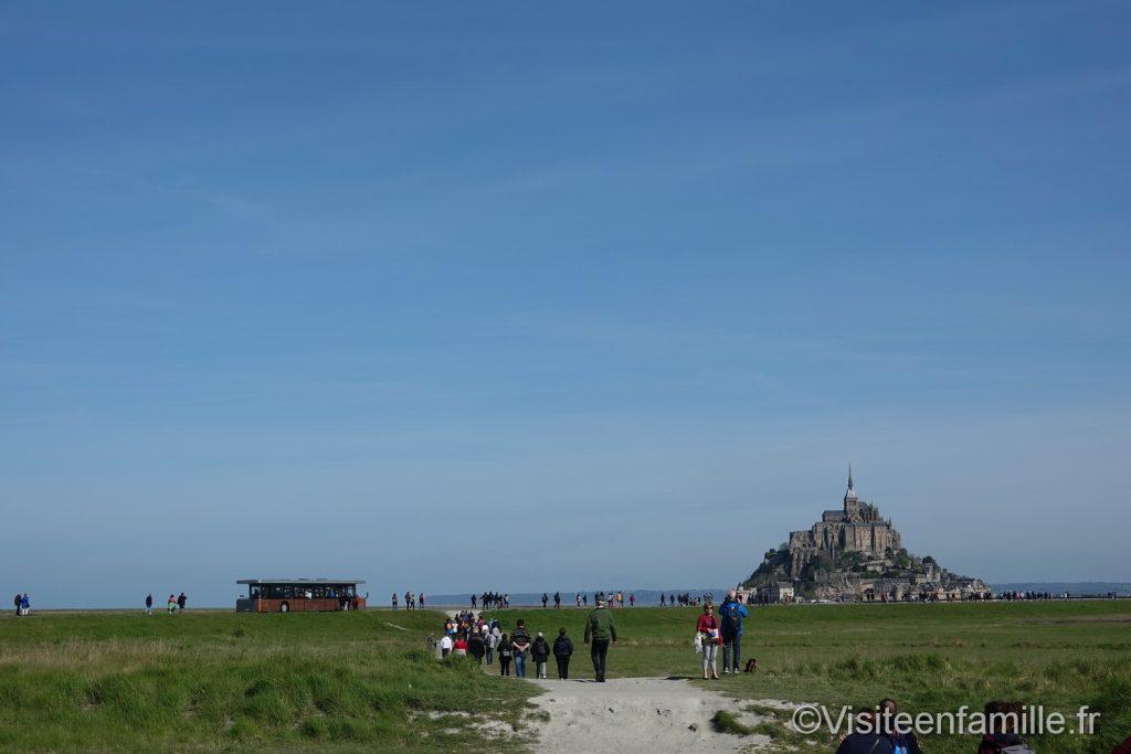 Marche pour aller au mont Saint Michel
