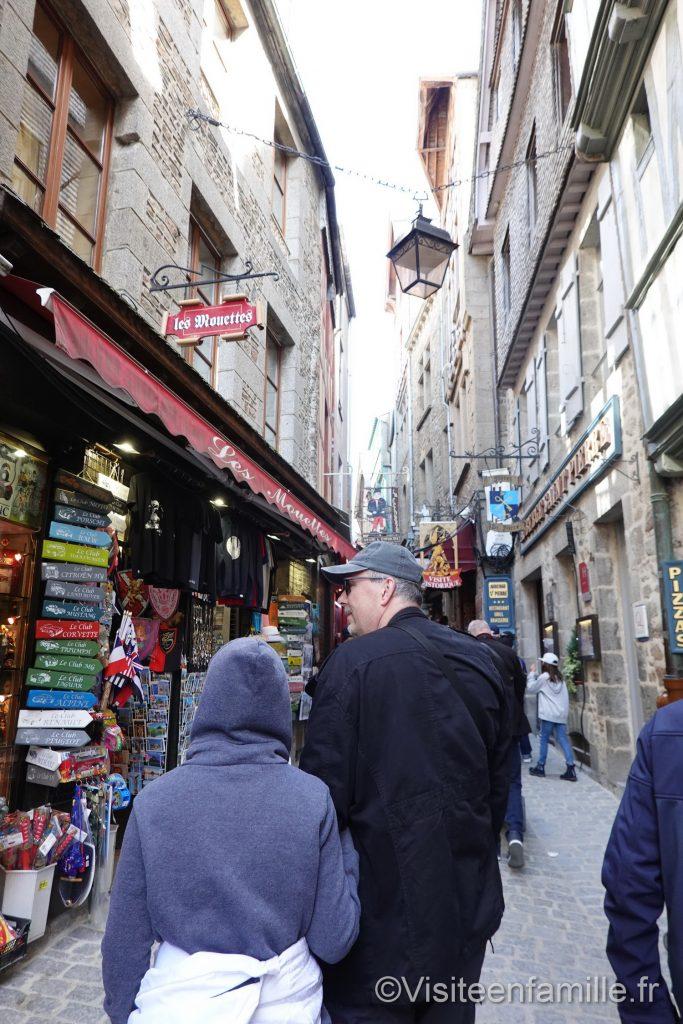 Les rues du mont Saint Michel