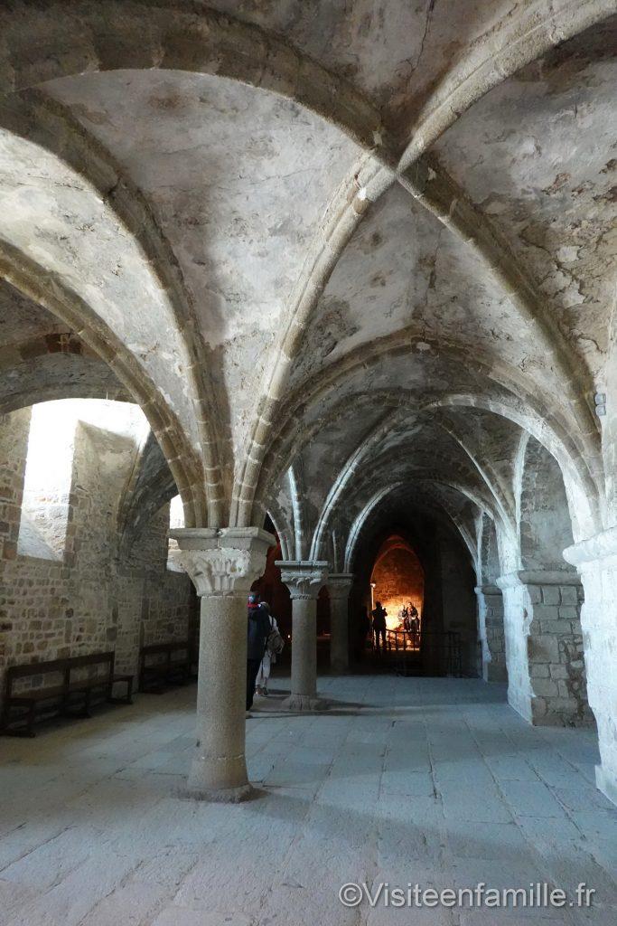 La salle aquilon du mont Saint Michel