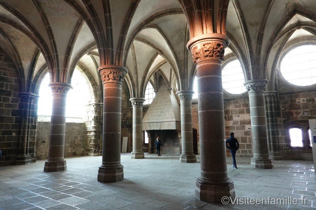 La salle des chevaliers du mont Saint Michel