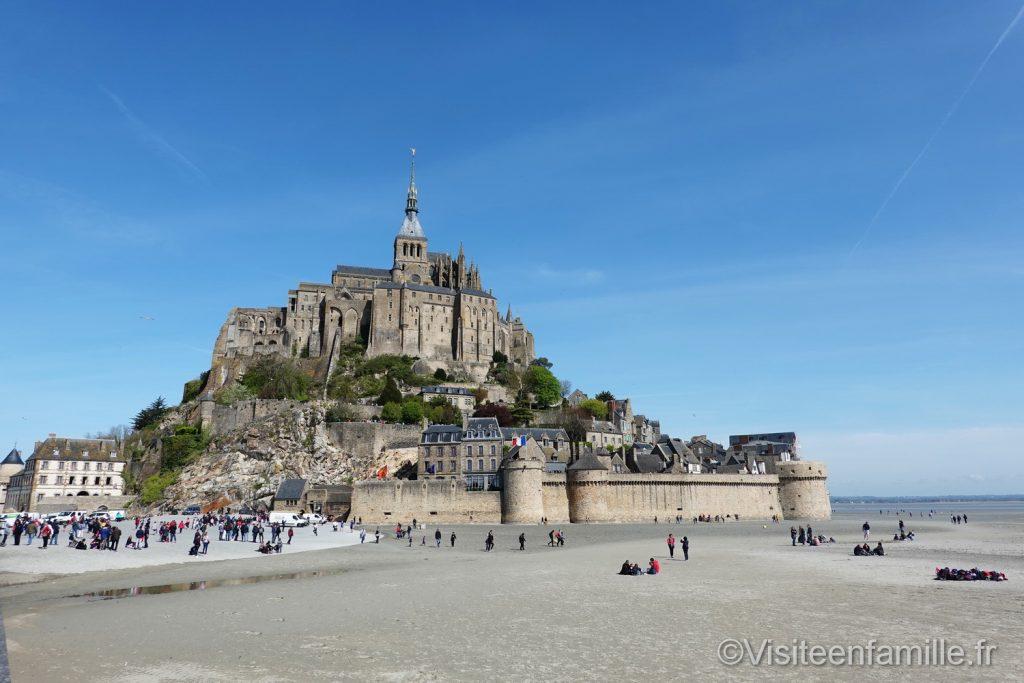 plage devant le mont Saint Michel