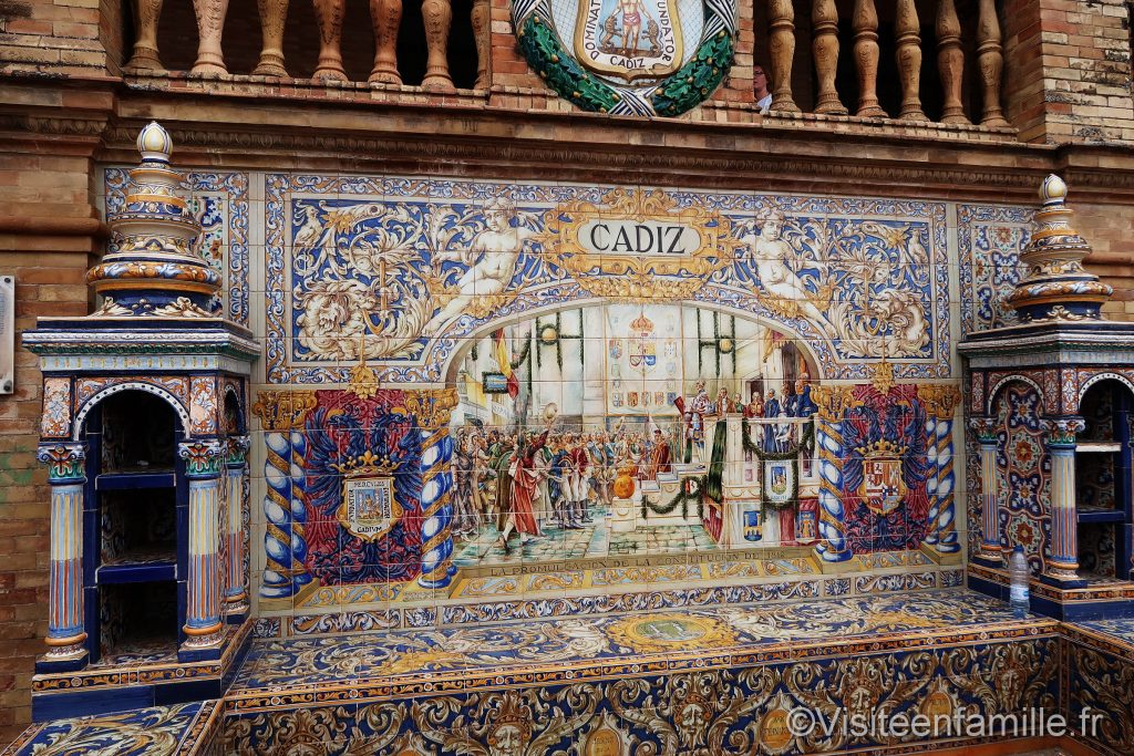 Mosaique de La Plaza de España