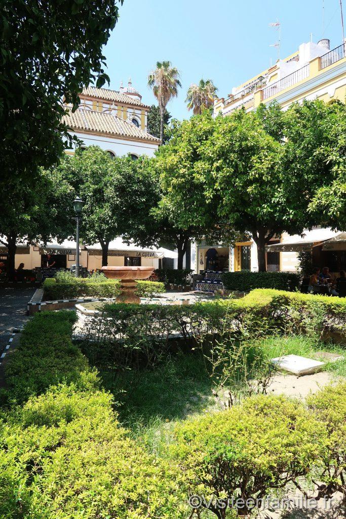 Jardin dans Barrio Santa Cruz à Séville