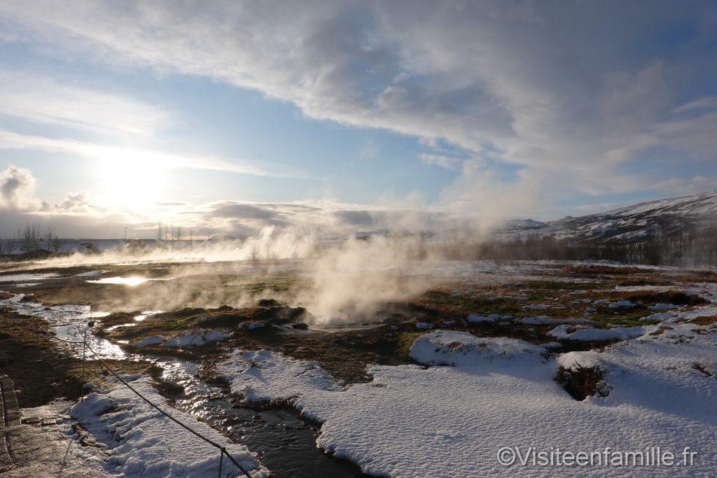 Eau chaude geysers de Geysir