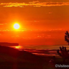 Coucher de soleil sur Omaha beach