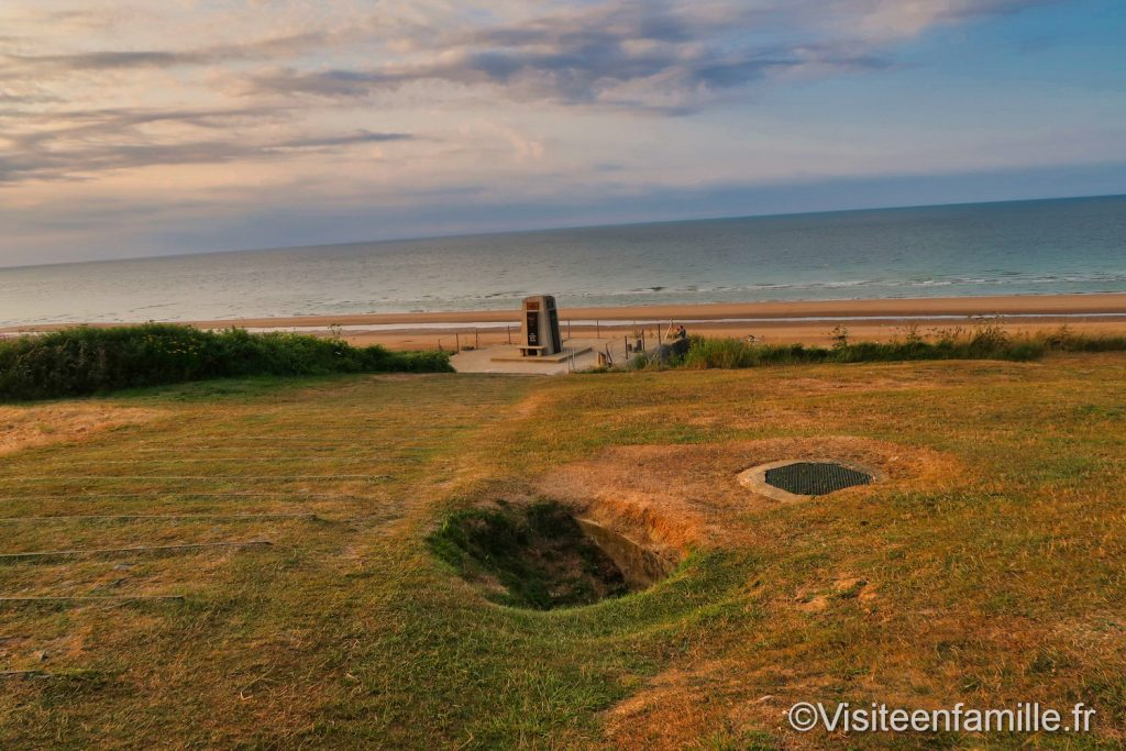 Trous d'obus Omaha beach