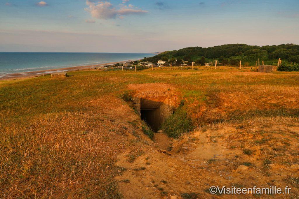 bunker sur la colline de Omaha beach