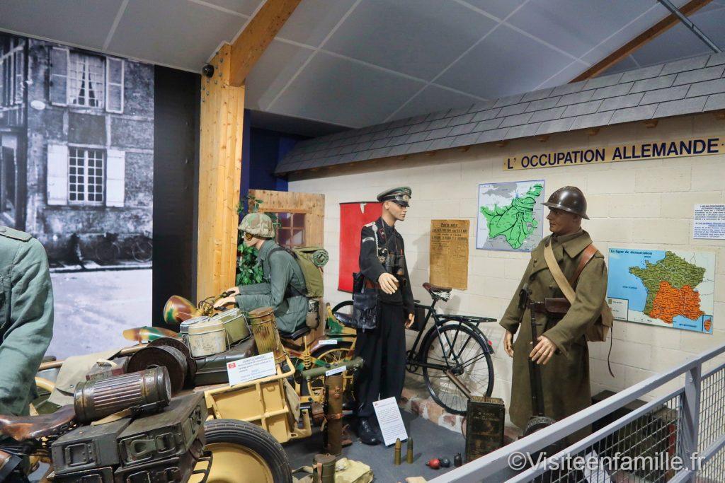 intérieur du musée mémorial Omaha beach pendant l'occupation allemande