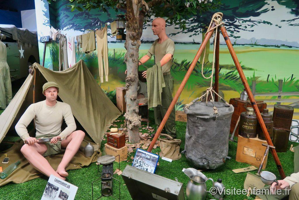 camp dans le musée mémorial Omaha beach