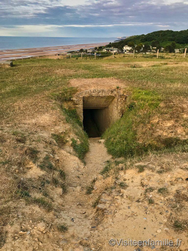 Entrée du bunker à Omaha beach