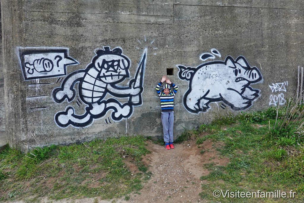 Tag bunker Pointe du Grouin Bretagne