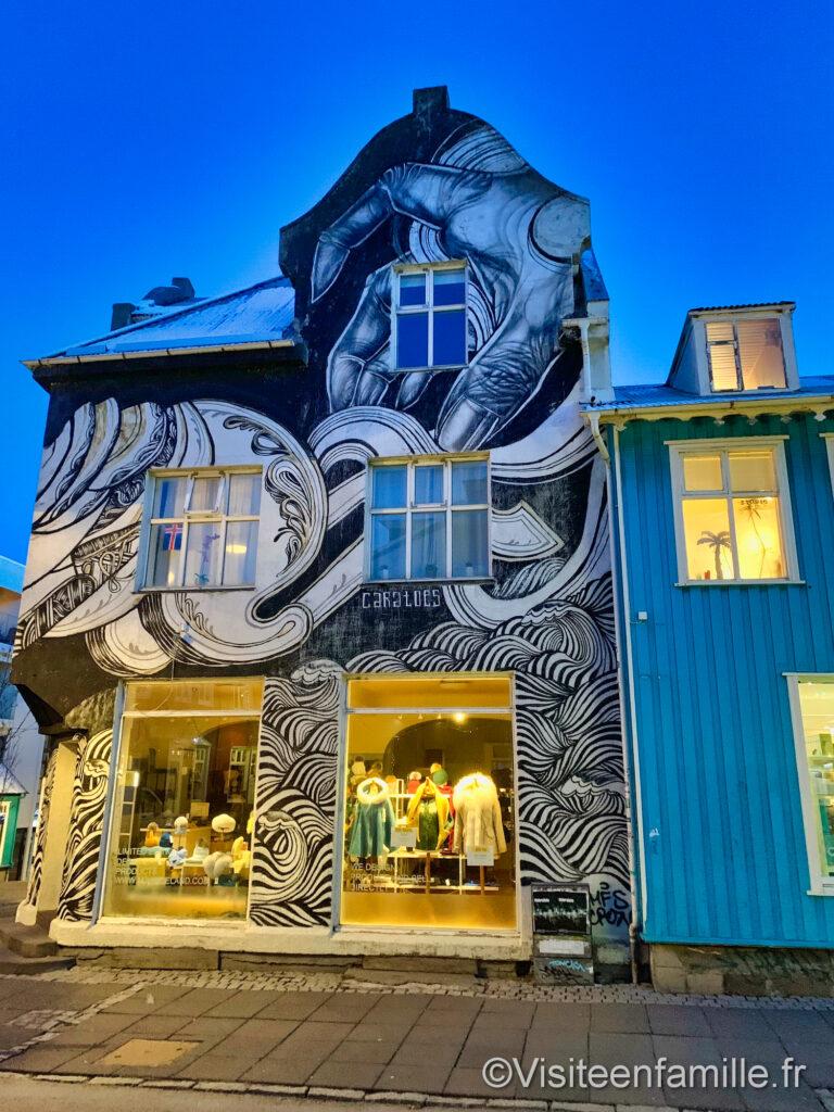 Fresque murale Reykjavik