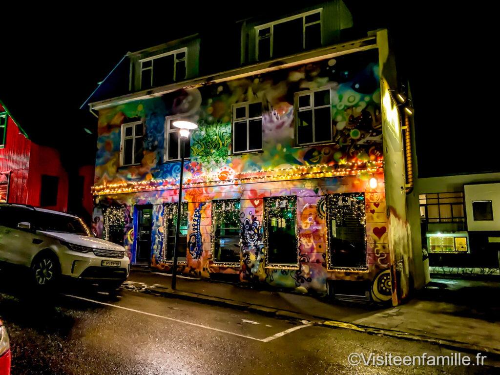 Maison colorée Reykjavik