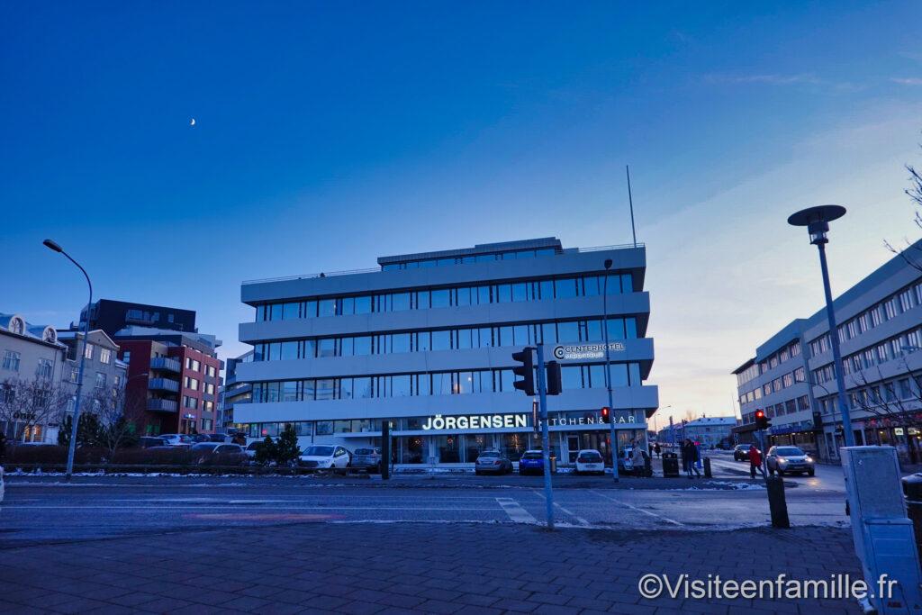 CenterHotel Midgardur à Reykjavik de jour