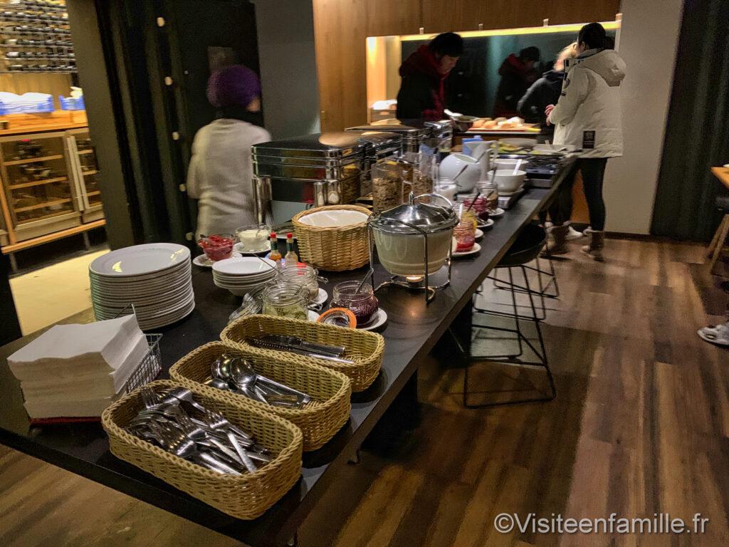 Petit déjeuner au Center Hotel Midgardur à Reykjavik