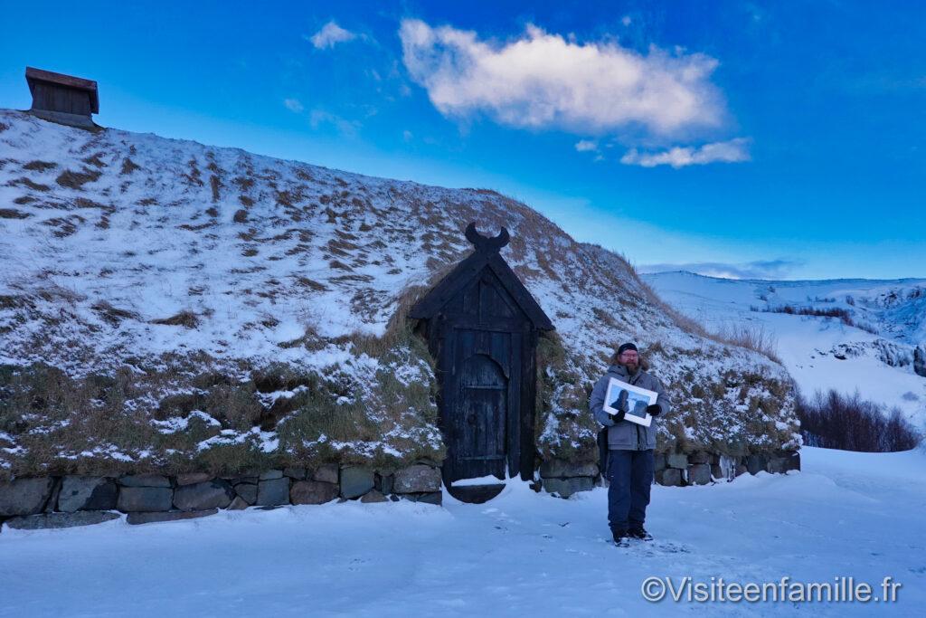 maison en toit de tourbe Islande