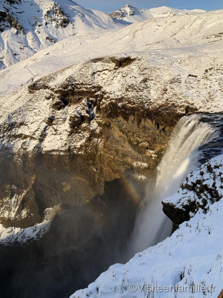 cascade Skógafoss vu du haut
